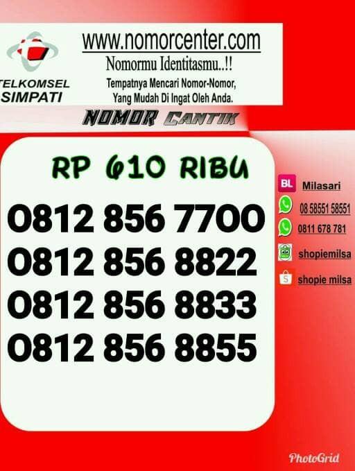 Nomor Cantik Simpati Double AA Rapih 7700/8822/8833/8855 $Ybl12A_892