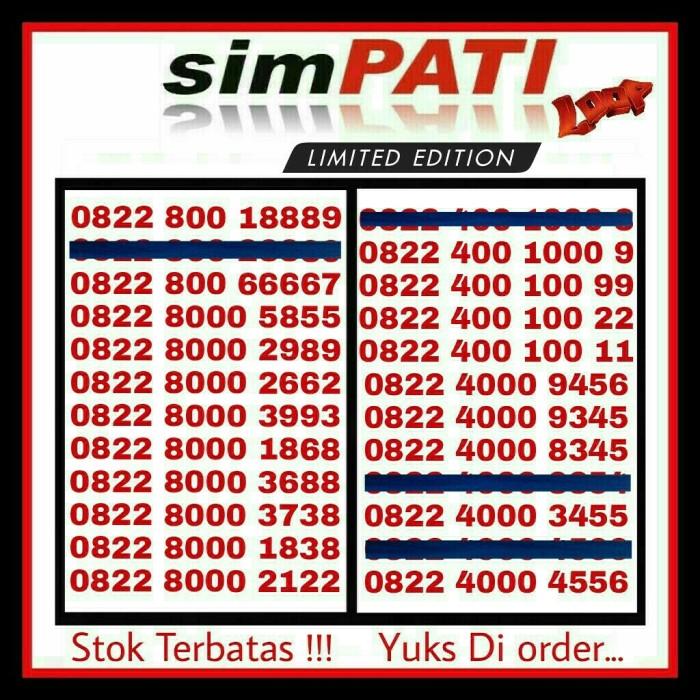 Telkomsel Simpati Nomor Cantik 0822 1000 3323 Daftar Harga Source · Kartu Perdana Nomor Cantik No Simpati Telkomsel AS Loop Indosat AXIS