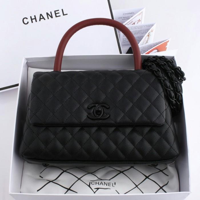 9634b631a381 Jual tas Chanel Coco Handle Caviar So Black + box - AL TAS | Tokopedia