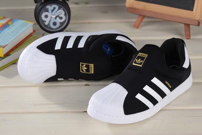 100% authentic 88be4 c1aab Jual ADIDAS SUPERSTAR SLIP ON KIDS BLACK WHITE - DKI Jakarta - footgoodz |  Tokopedia