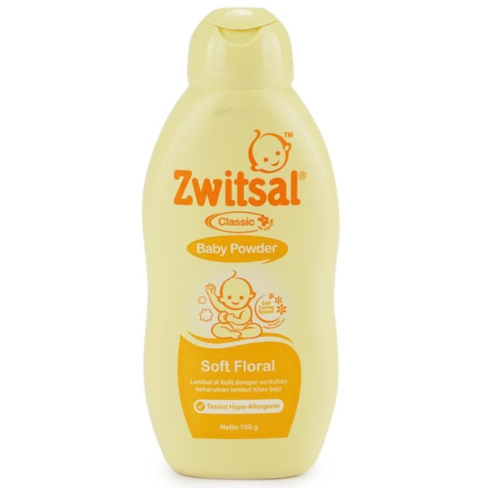 ZWITSAL Baby Powder Classic Soft Floral Bottle 100g / 100 g