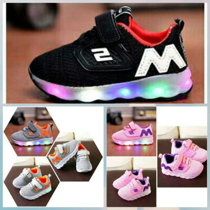 Jual Sepatu Anak M Sketcher Adidas Import Murah Lampu Led Kab