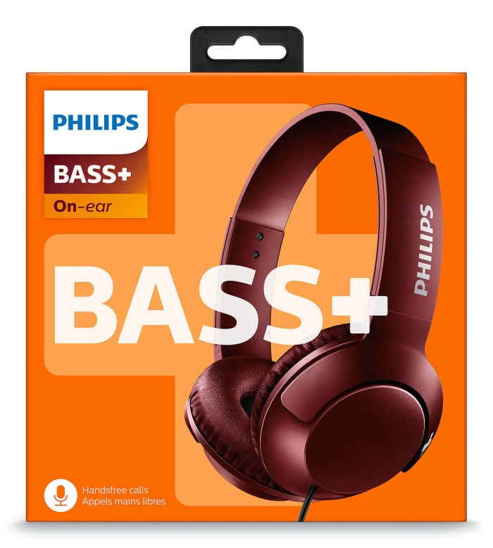 harga Philips bass+ headphone with mic shl 3075 - red Tokopedia.com