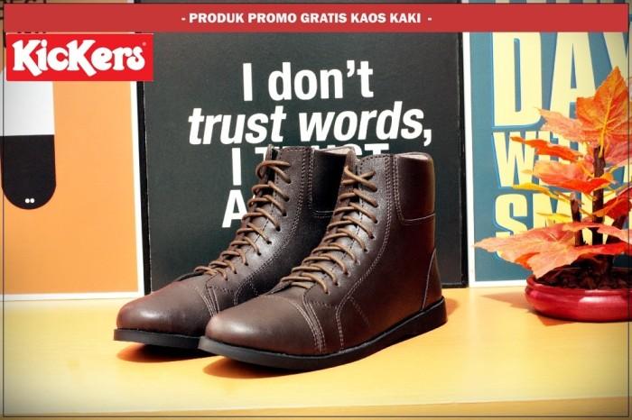Jual Sepatu Boots casual pria Kickers Slim coklat - GROSIR SEPATU ... 755d76e098