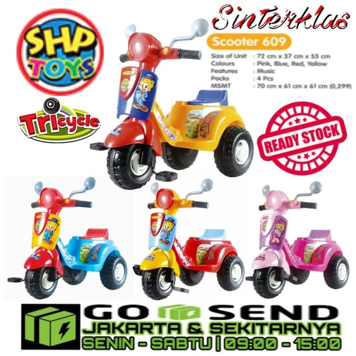 harga Scooter shp 609 mainan anak sepeda roda tiga ada dorongan khusus gojek Tokopedia.com