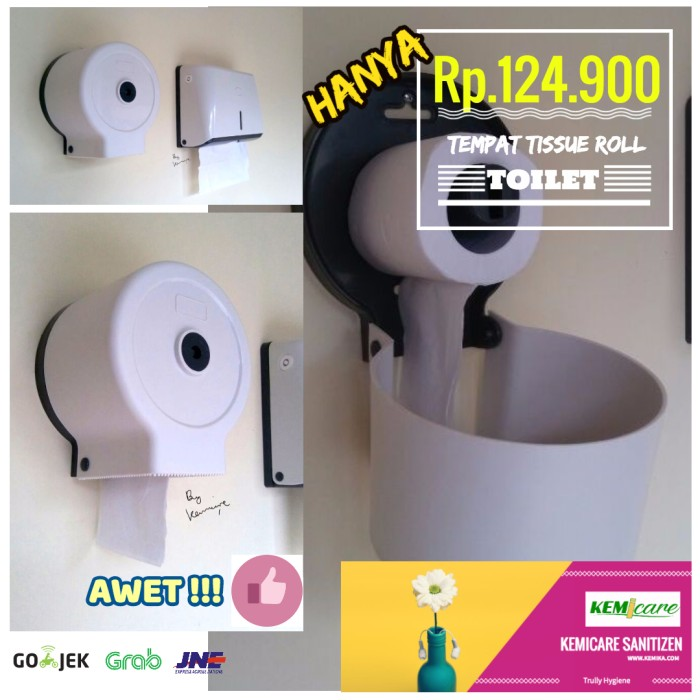 harga Tempat tissue toilet roll dispenser Tokopedia.com