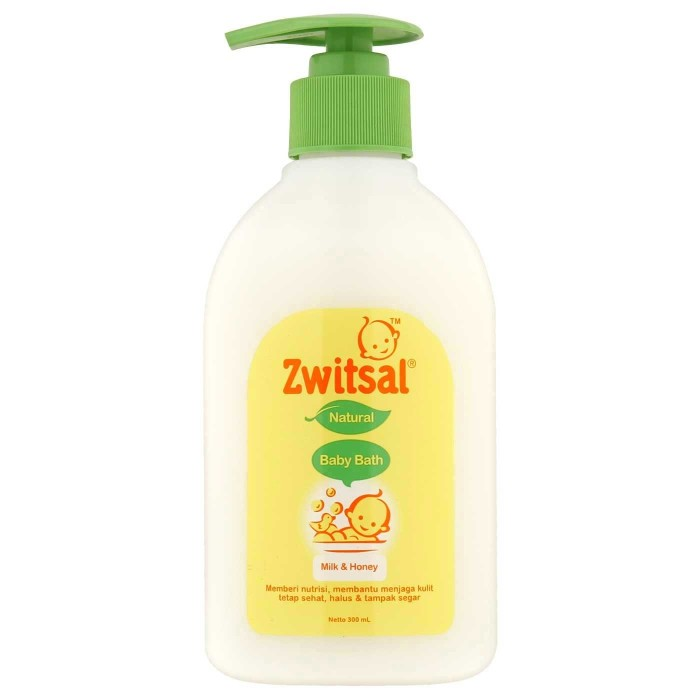 harga Zwitsal baby bath natural milk & honey pump 300 ml Tokopedia.com
