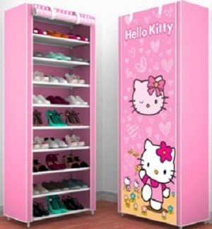 harga Rak sepatu with cover karakter 10susun (2kg)-rs10chp (hello kitty) Tokopedia.com