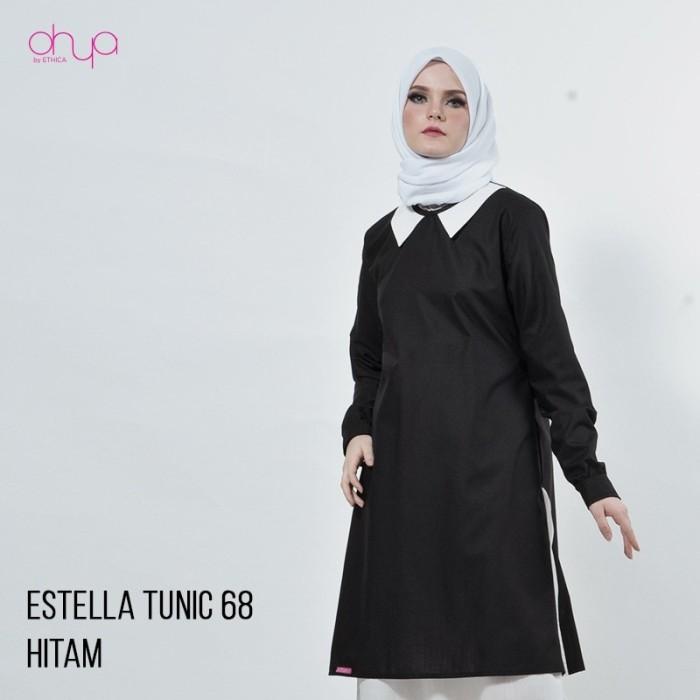 Jual Tunik Ethica Terbaru Warna Black Baju Gamis Modern Official