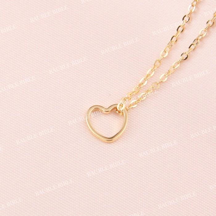 harga Bauble bible mini heart necklace perhiasan kalung hati lapis emas 18k Tokopedia.com
