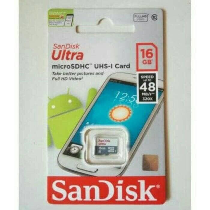 harga Memory hp mmc micro sd sandisk 16gb Tokopedia.com
