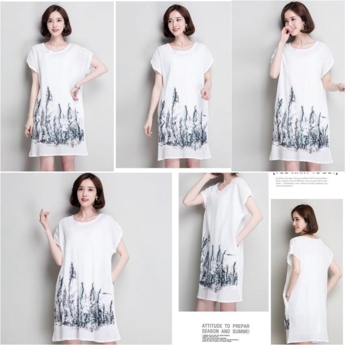 White city graffiti  loose dress - 31146