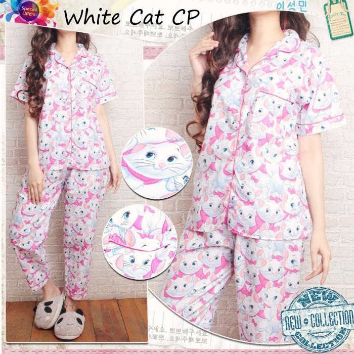 harga Cp white cat piyama celana panjang pajamas baju tidur wanita grosir Tokopedia.com