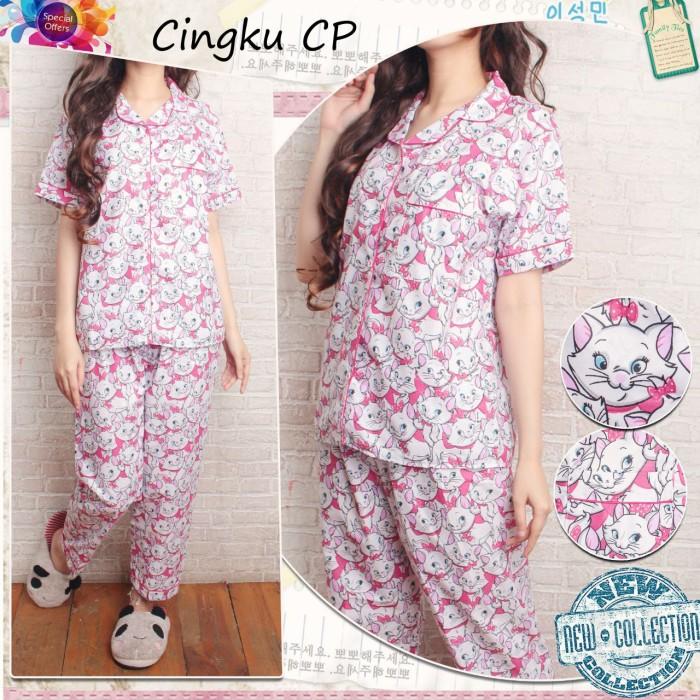 harga Cp cingku piyama celana panjang pajamas baju tidur wanita grosir Tokopedia.com
