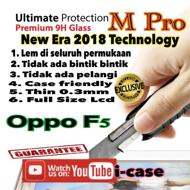Foto Produk Oppo f5 tempered glass M Pro Full Glue dari i-case