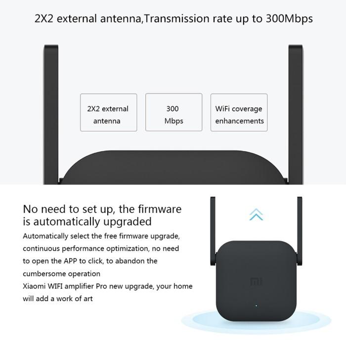 Foto Produk Xiaomi Pro 300Mbps Wifi Amplifier Wireless Wifi Signal Extender - extender saja dari BEST MEMORY