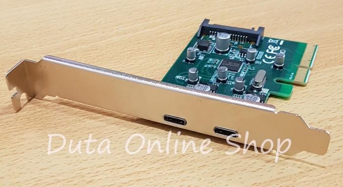 Foto Produk PCI Express Card X4 / X16 to 2Port USB 3.1 High Speed dari Duta Online Shop