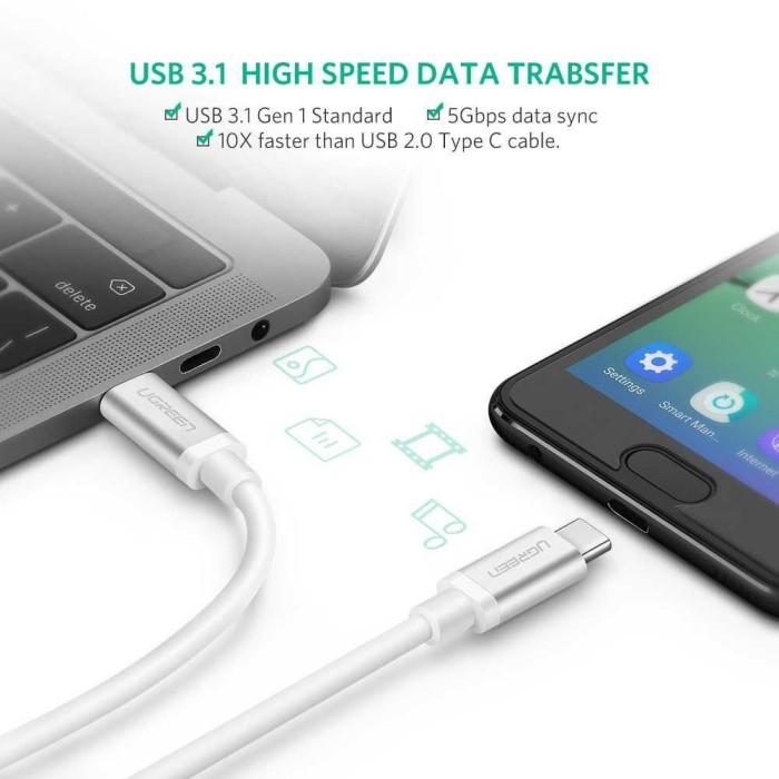 Ugreen Kabel Data USB Type C 3.1 Male to Male Multifungsi 1 Meter UGUA