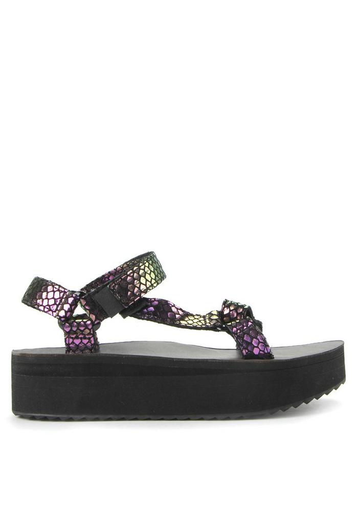 f8ae22e661 Jual Sepatu Sandal Flatform Universal Iridescent Teva Black - Kota ...