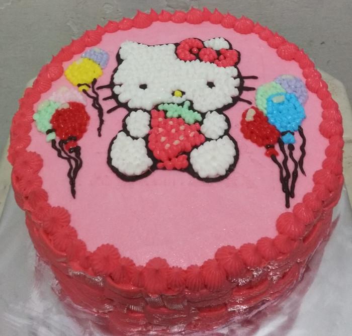 Jual Kue Ulang Tahun Anak Kue Ulang Tahun Hello Kitty Diameter 20cm Jakarta Selatan Harin Homemade Tokopedia