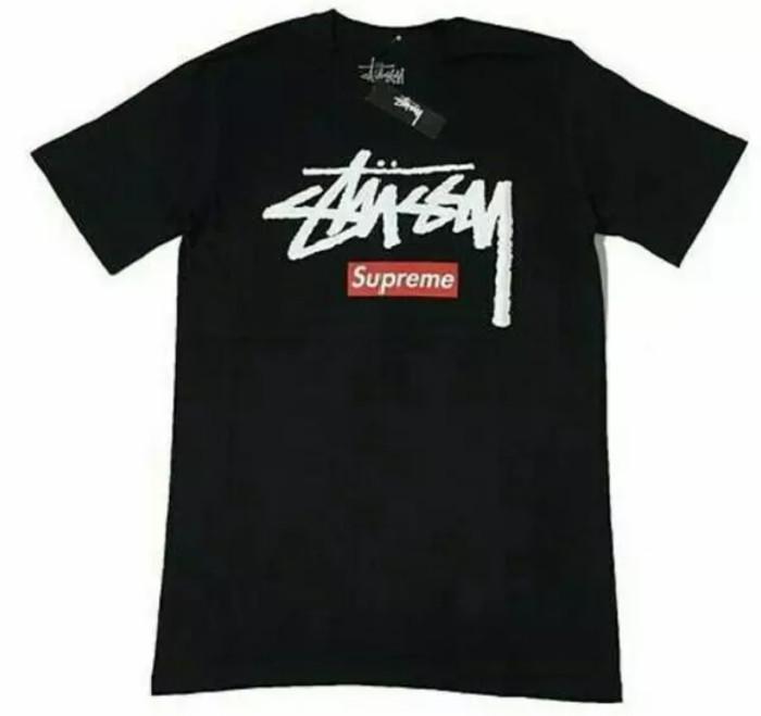 harga Kaos stussy x supreme-t-shirt-tees Tokopedia.com
