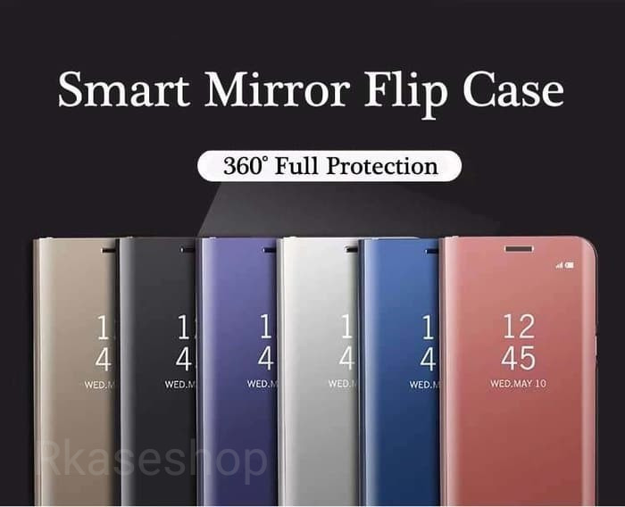 harga Clear view standing samsung a6 plus a6+ flip mirror case casing cover Tokopedia.com