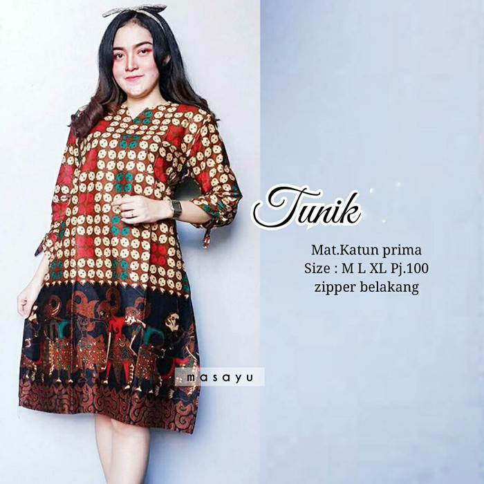 Daster Midi Batik Print BPT002-17C. Source · DRESS BATIK MODERN - TUNIK /