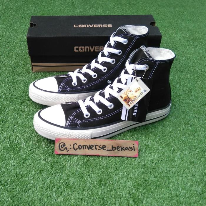 Jual Sepatu Converse BOX Grade Ori Hitam low high unisex cewek cowok ... ee93b2e716