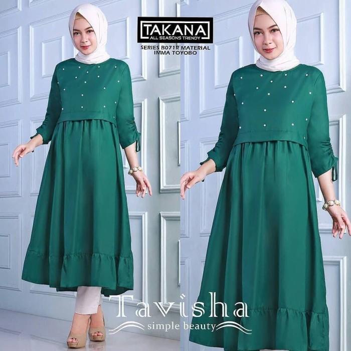 Tavisha Tunik Atasan Wanita Baju Muslim Blus Hijab Modern 2018 Terbaru e291331701