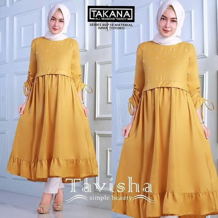 Jual Tavisha Tunik Atasan Wanita Baju Muslim Blus Hijab Modern 2018