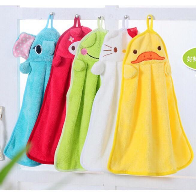 Foto Produk Hand Towel Bludru Halus Lap Tangan Microfiber Karakter Lucu   dari Blenda Autumn Shop
