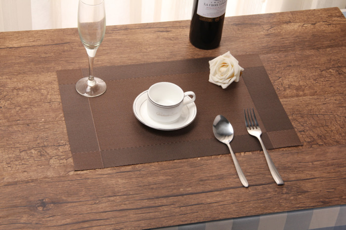 Tatakan piring bahan pvc alas makan anti slip table mat dekorasi meja