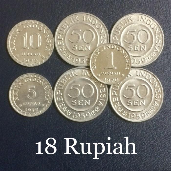 harga Mahar 18 rupiah / koin kuno indonesia / kode a Tokopedia.com
