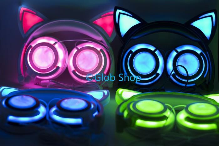 Jual NEW VERSION Cat Ear Headphone/Earphone/Headset Kucing ...
