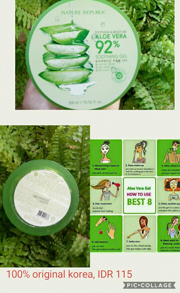 Jual Nature Republic 92 Aloe Vera Soothing Gel Original Korea Ada Embos 300 Ml