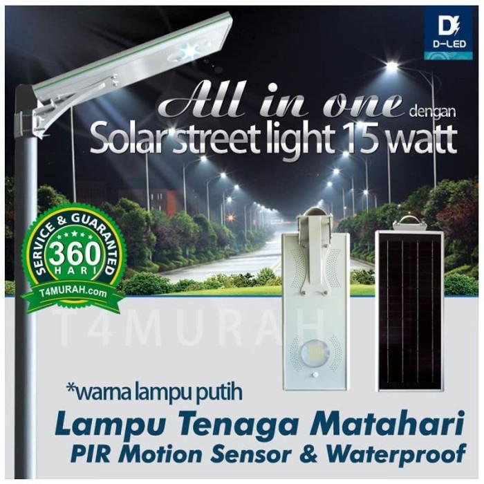 Jual Lampu Pju 15 Watt Tenaga Matahari Hemat Energi Solar Surya