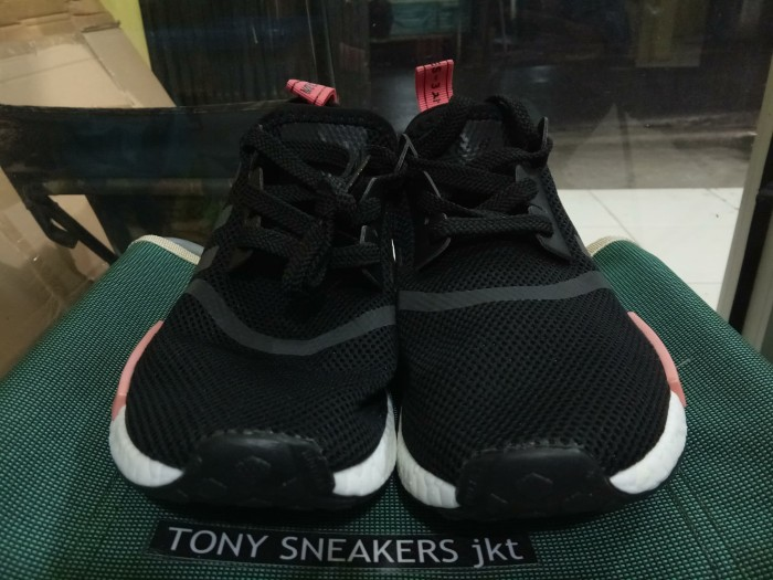 879667e582062 Jual Adidas NMD R1 Black Peach Pink Women   sneaker   sepatu wanita ...