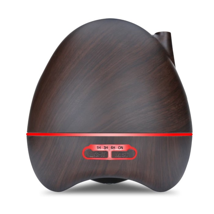 harga H17 - wooden humidifier aroma diffuser 7 color led light 300ml Tokopedia.com