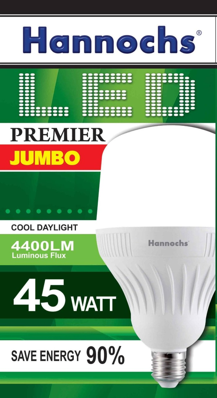 HANNOCHS LAMPU LED PREMIER JUMBO 45 WATT / BOLA LAMPU HANNOCHS 45 WATT