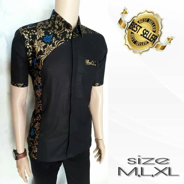 harga Kemeja batik kombinasi hitam motif terbaru 042 Tokopedia.com
