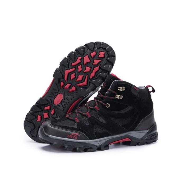 harga Sepatu gunung snta 491 black red boots hiking/fashion/trekking/outdoor Tokopedia.com