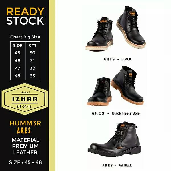 harga Sepatu boots pria ares big size 45 46 47 48 49 Tokopedia.com