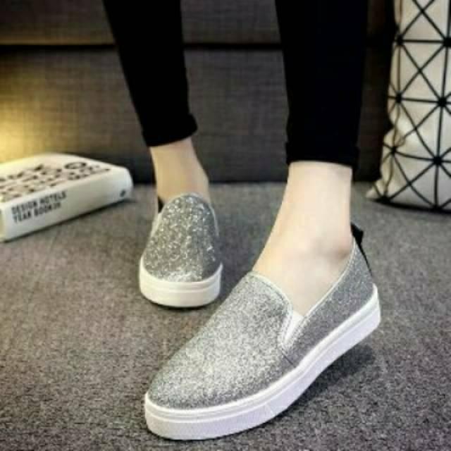 harga Sepatu flat shoes poxing slip on wanita truth Tokopedia.com