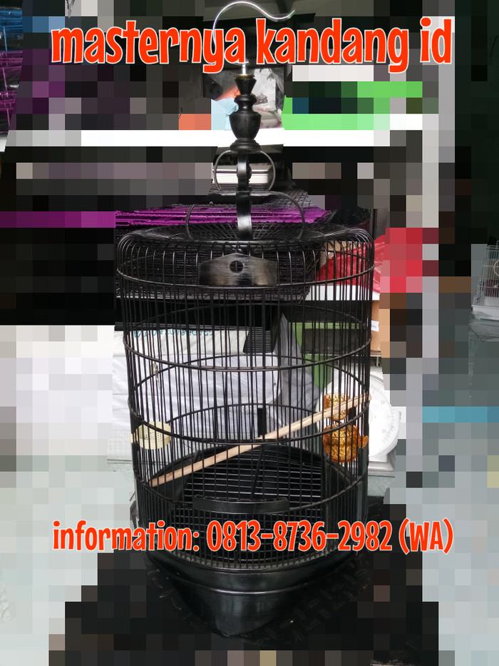 harga Kandang gablok halus u/ burung poksay / cucakrawa (d43xt75cm) full set Tokopedia.com