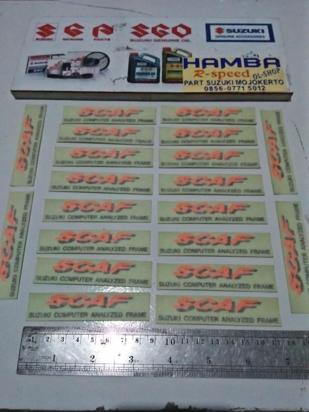 harga Sticker list scaf frame rangka suzuki satria 120r 2tak Tokopedia.com