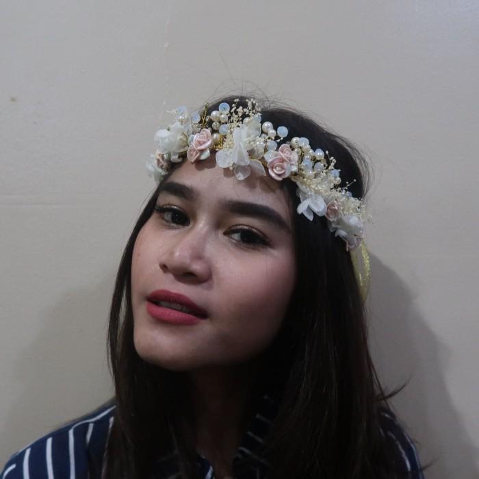 Foto Produk Ready Mahkota pernikahan wedding crown bunga flower headpiece Real Pic dari Sarkara Shop