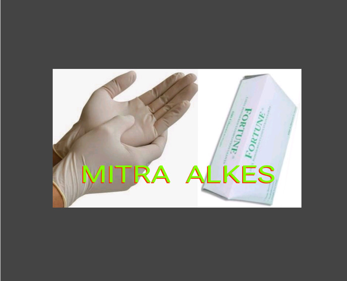harga Sarung tangan fortune karet. gloves handscoon non steril latex powder Tokopedia.com