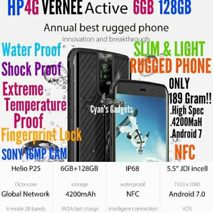 Jual Hp 4g Vernee Active 6gb 128gb Handphone Rugged Ip68 Rival