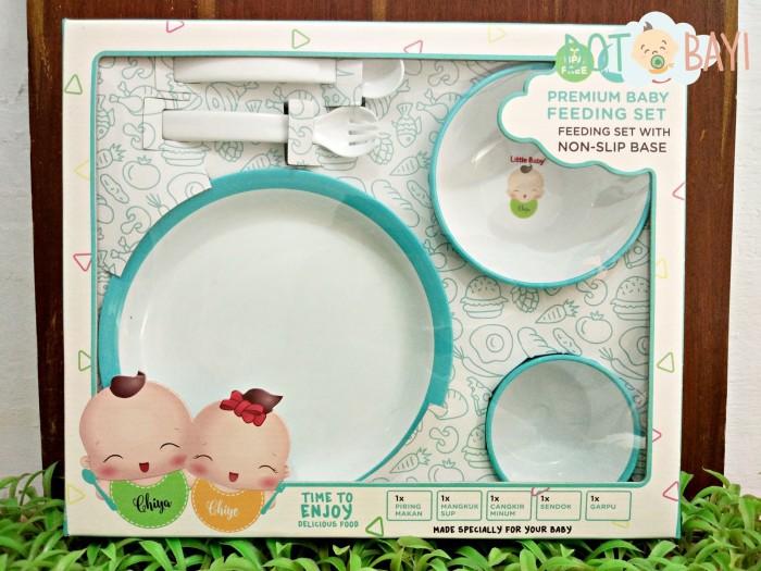 Premium feeding set - perlengkapan makan little baby anti slip base