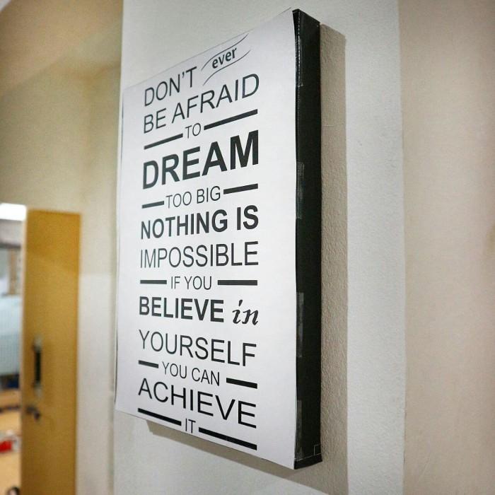 Home Decor Frame Kayu Poster Spanram Motivasi Quotes (4) Hiasan Kantor
